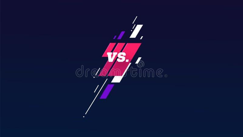 Contra logotipo contra las letras para los deportes y la competencia de la lucha Muttahida Majlis-E-Amal, UFS, batalla, contra pa libre illustration