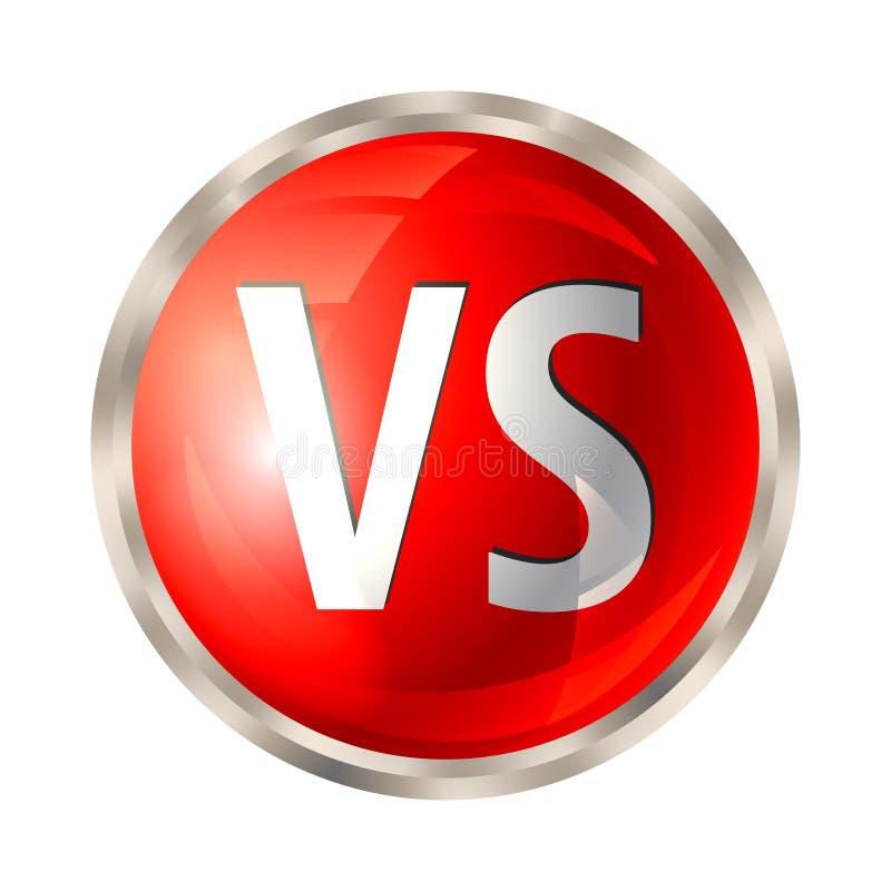 Contra o botão isolado ilustração do vetor