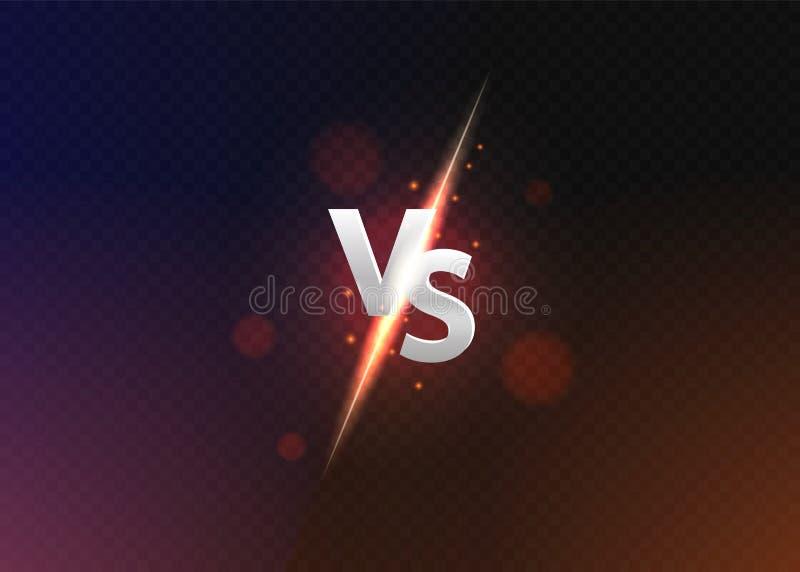 Contra contra o fundo Contra o logotipo contra letras para esportes e competi??o da luta Ilustra??o do vetor ilustração royalty free