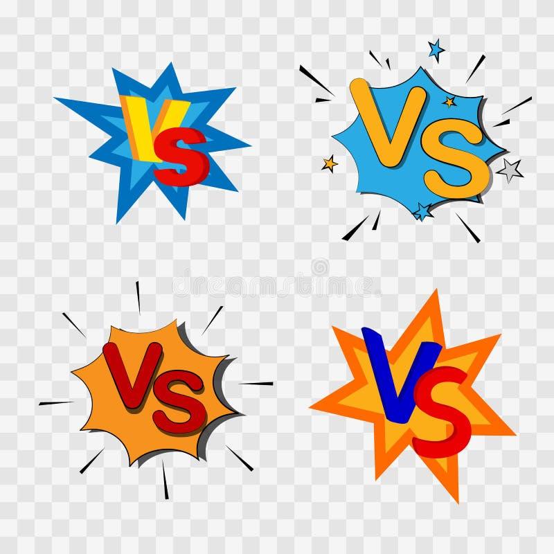 Contra o contra la confrontación stock de ilustración