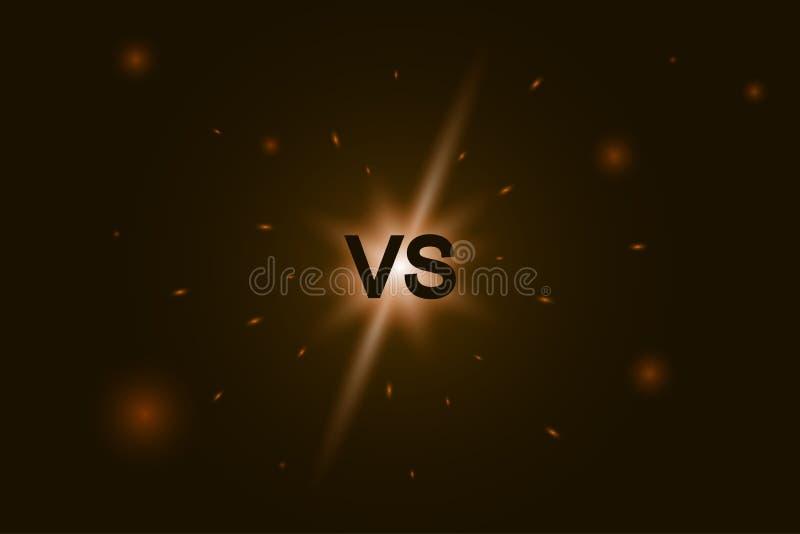 Contra o logotipo CONTRA letras para a competi??o de esportes, luta, batalha do jogo ilustração do vetor