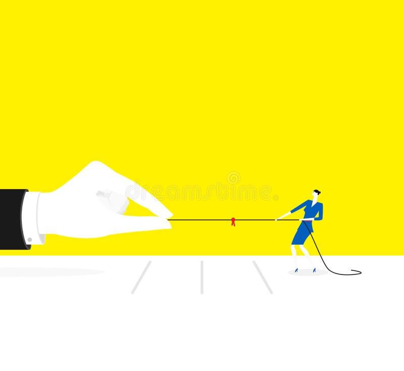 Contra poder ilustración del vector