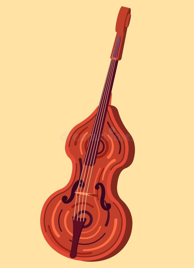 Contrabaixo do instrumento de Musicial ilustração royalty free