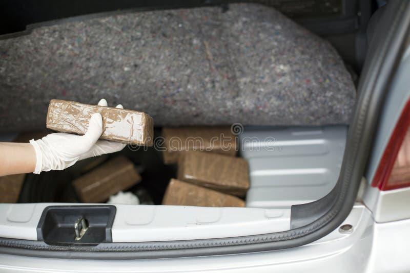 Contrabando de drogas imagen de archivo