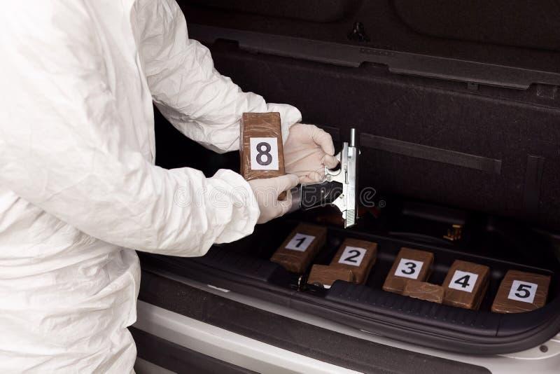 Contrabando de drogas fotografía de archivo libre de regalías