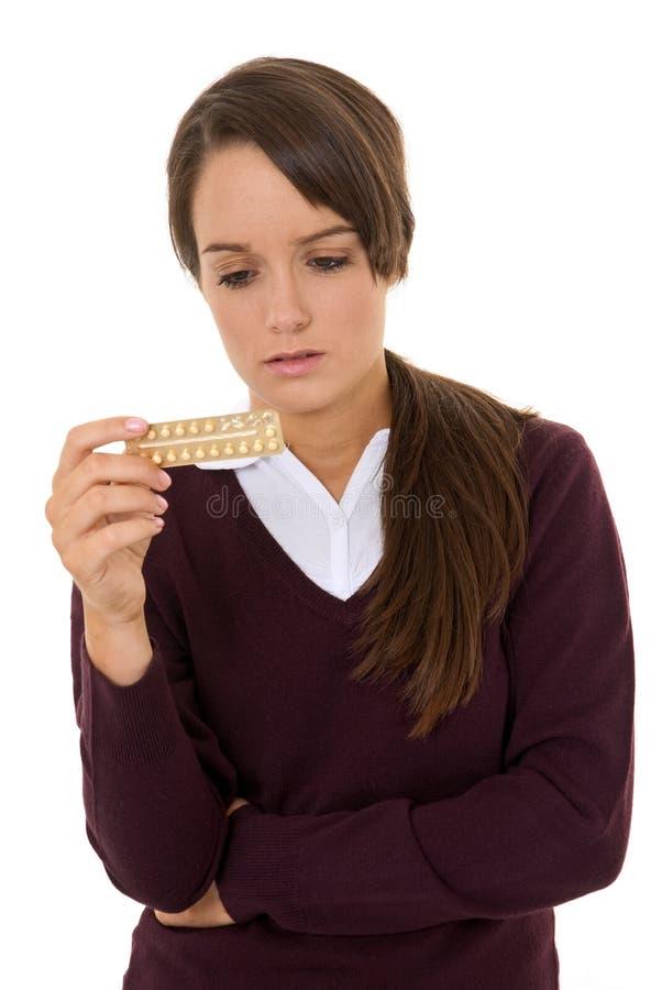 Contracepção adolescente imagens de stock