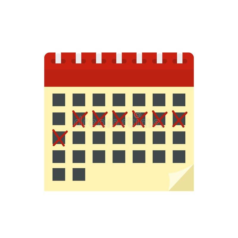 Contraceptive calendar icon, flat style. Contraceptive calendar icon. Flat illustration of contraceptive calendar vector icon for web design vector illustration