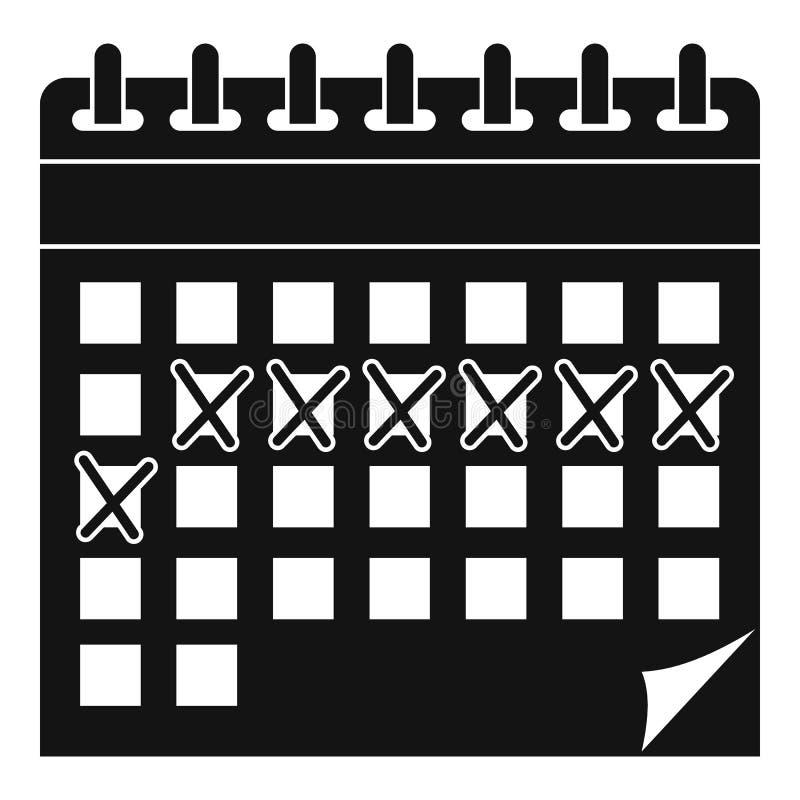 Contraceptive calendar icon, simple style. Contraceptive calendar icon. Simple illustration of contraceptive calendar vector icon for web design isolated on vector illustration