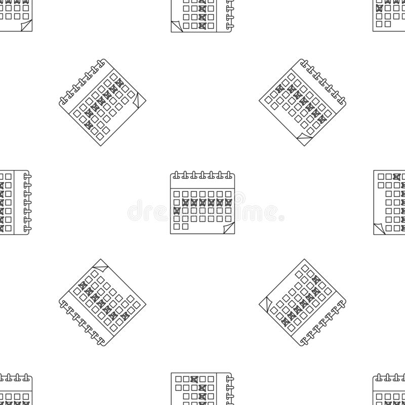Contraceptive calendar pattern seamless vector. Repeat geometric for any web design vector illustration