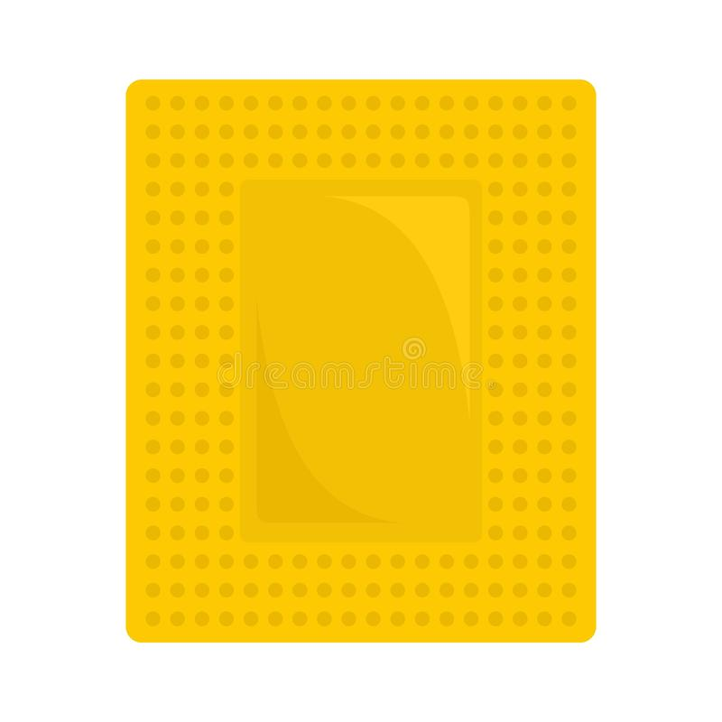 Contraceptive patch icon, flat style. Contraceptive patch icon. Flat illustration of contraceptive patch icon for web design royalty free illustration