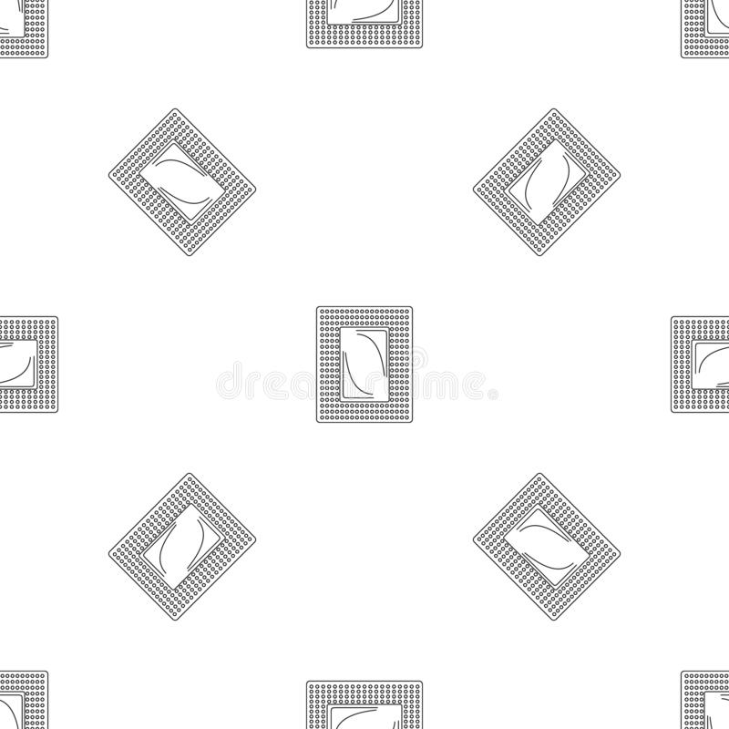 Contraceptive patch pattern seamless vector. Repeat geometric for any web design stock illustration