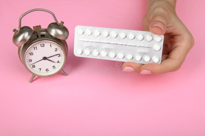 Contraceptive pills stock photos