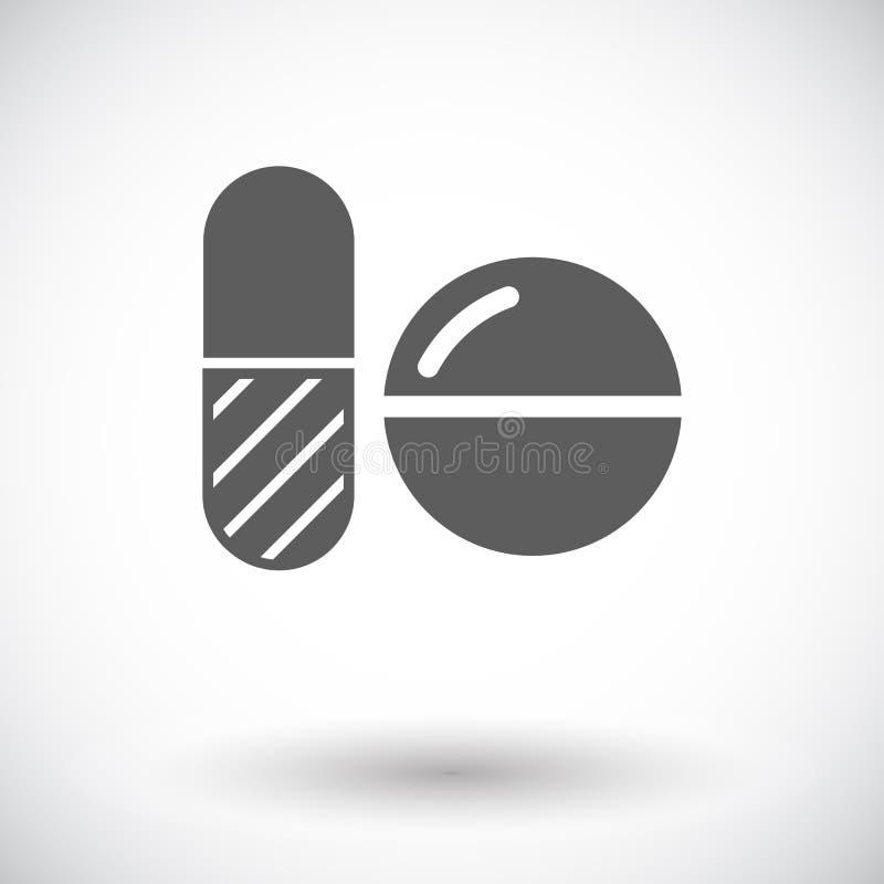 Contraceptive pills. Single flat icon on white background. Vector illustration stock illustration