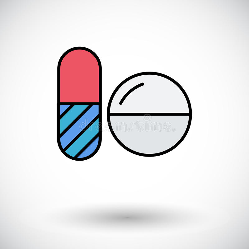 Contraceptive pills. Flat icon on the white background for web and mobile applications. Vector illustration vector illustration