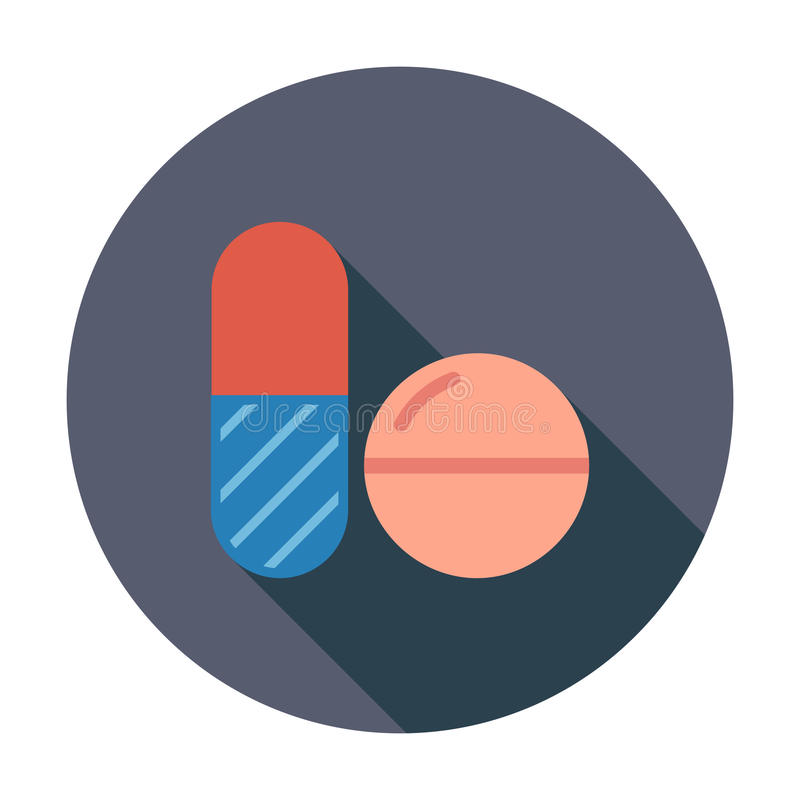 Contraceptive pills. Flat vector icon for mobile and web applications. Vector illustration royalty free illustration