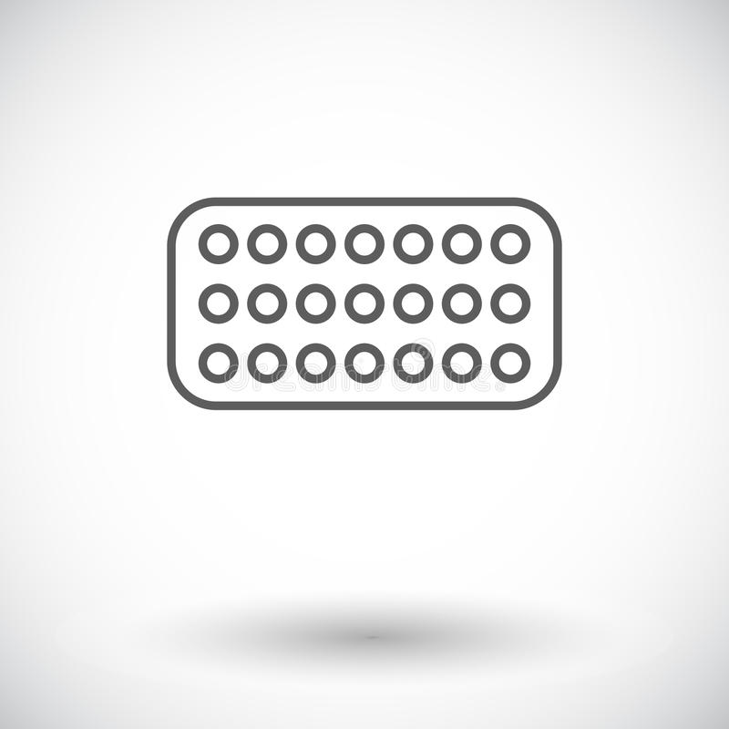 Contraceptive pills. Single flat icon on white background. Vector illustration royalty free illustration