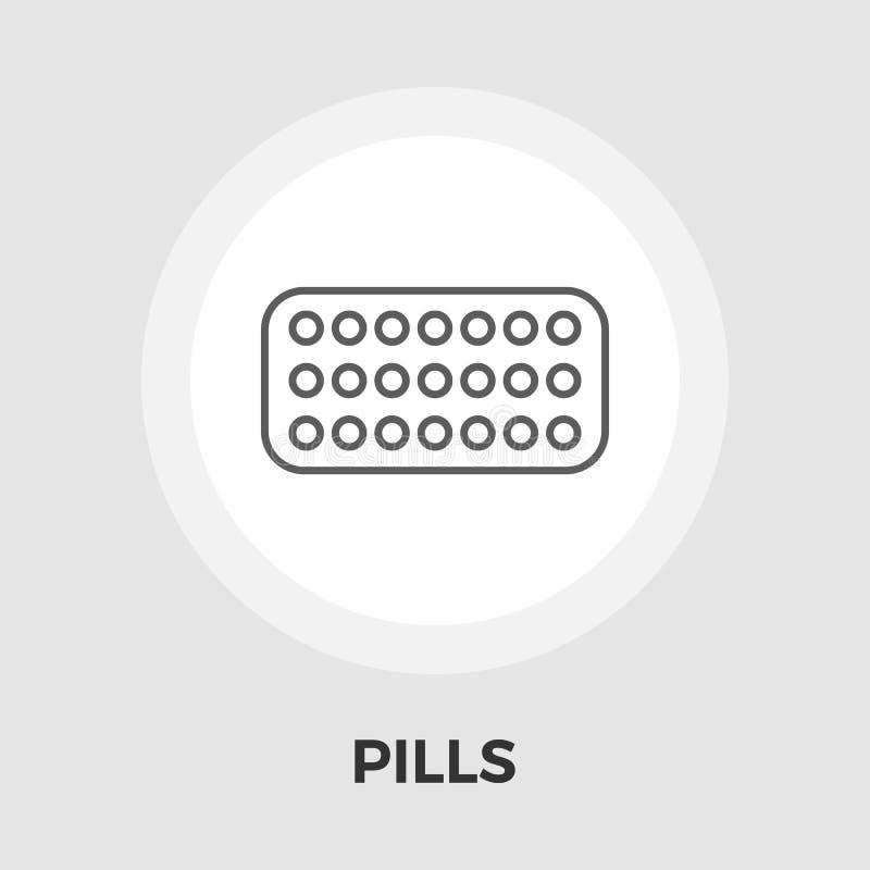 Contraceptive pills vector flat icon. Contraceptive pills icon vector. Flat icon isolated on the white background. Editable EPS file. Vector illustration stock illustration