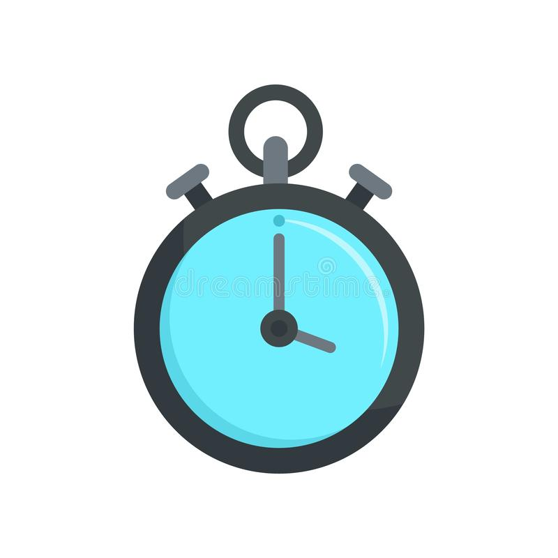 Contraceptive stopwatch icon, flat style. Contraceptive stopwatch icon. Flat illustration of contraceptive stopwatch vector icon for web design stock illustration