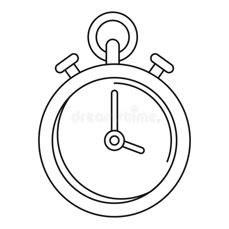 Contraceptive stopwatch icon, outline style. Contraceptive stopwatch icon. Outline illustration of contraceptive stopwatch vector icon for web design isolated on royalty free illustration