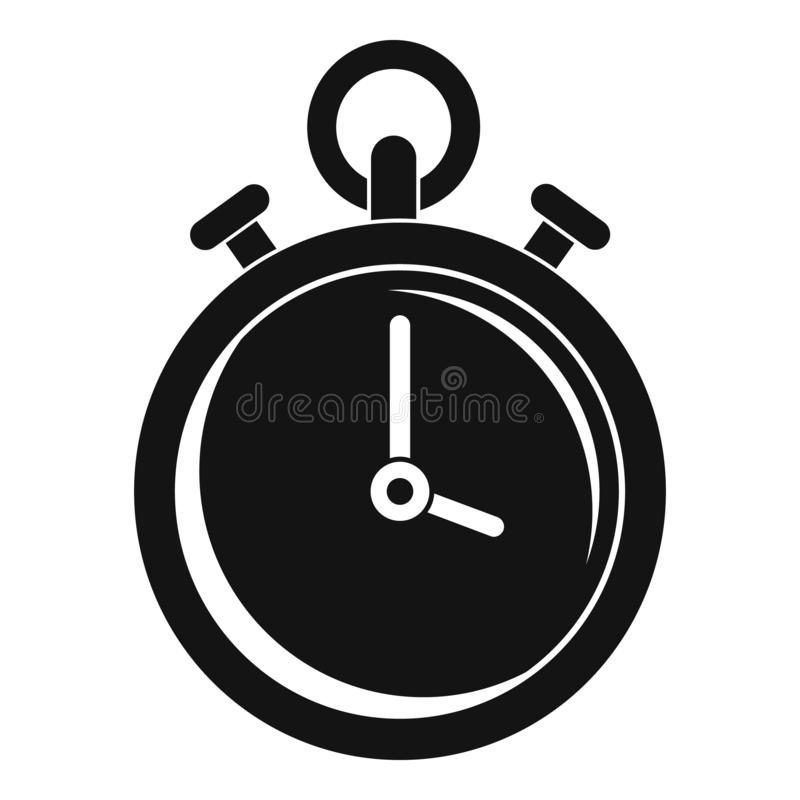 Contraceptive stopwatch icon, simple style. Contraceptive stopwatch icon. Simple illustration of contraceptive stopwatch vector icon for web design isolated on stock illustration
