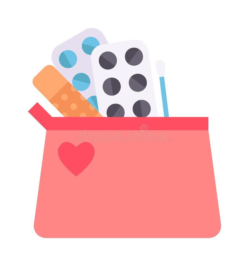 Contraceptives vector illustration. vector illustration