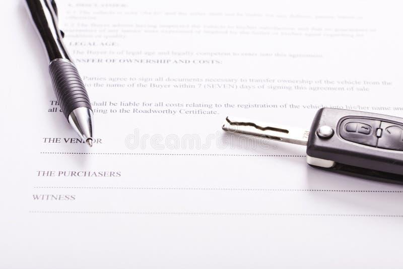 Contract stock foto