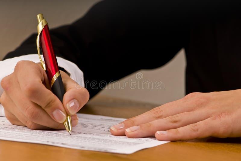 Contract stock fotografie
