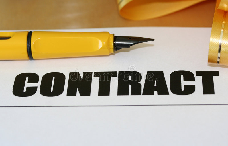 Download Contract Royalty Free Stock Photography - Image: 398037
