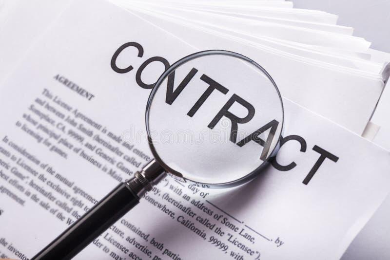 Contract royalty-vrije stock afbeelding