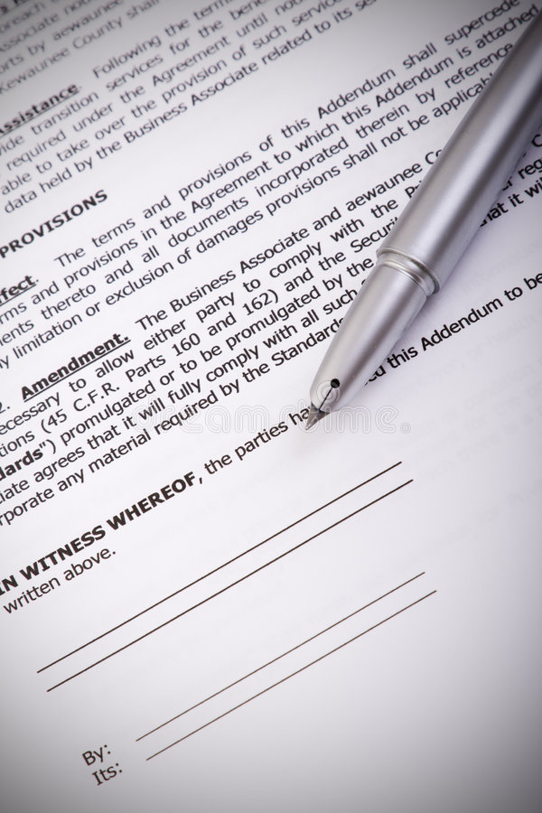 The Contract stock images