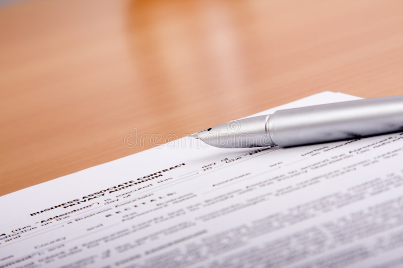The contract stock photography