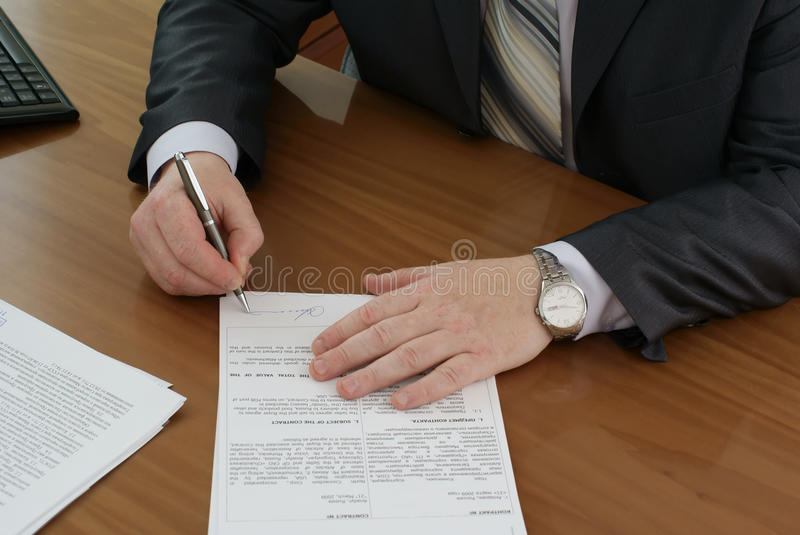 Download Contract Stock Images - Image: 9673694