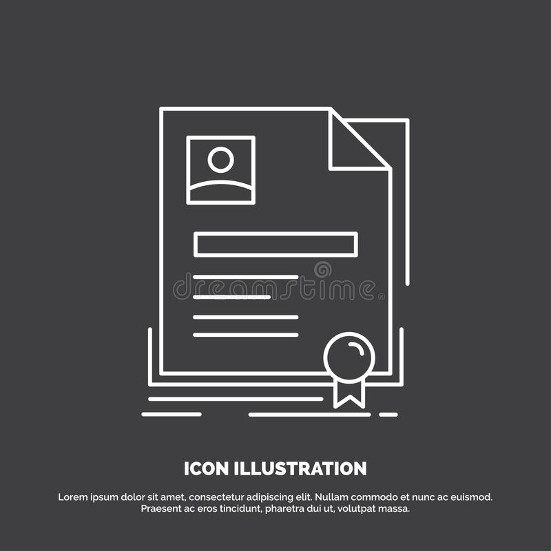 Contract, badge, Business, agreement, certificate Icon. Line vector symbol for UI and UX, website or mobile application. Vector EPS10 Abstract Template vector illustration