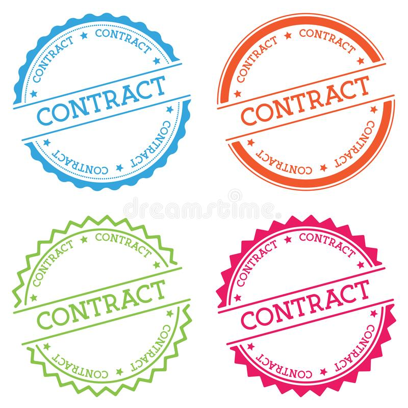 Contract badge isolated on white background. vector illustration