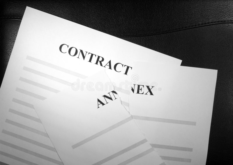 Download Contract and Broken Annex stock photo. Image of invalid - 1798978