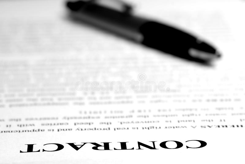 Download Contract on Desk stock image. Image of white, contractual - 14481073