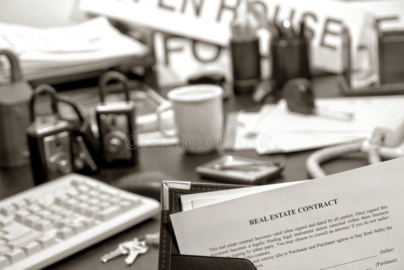 contract desk estate real realtor 库存照片