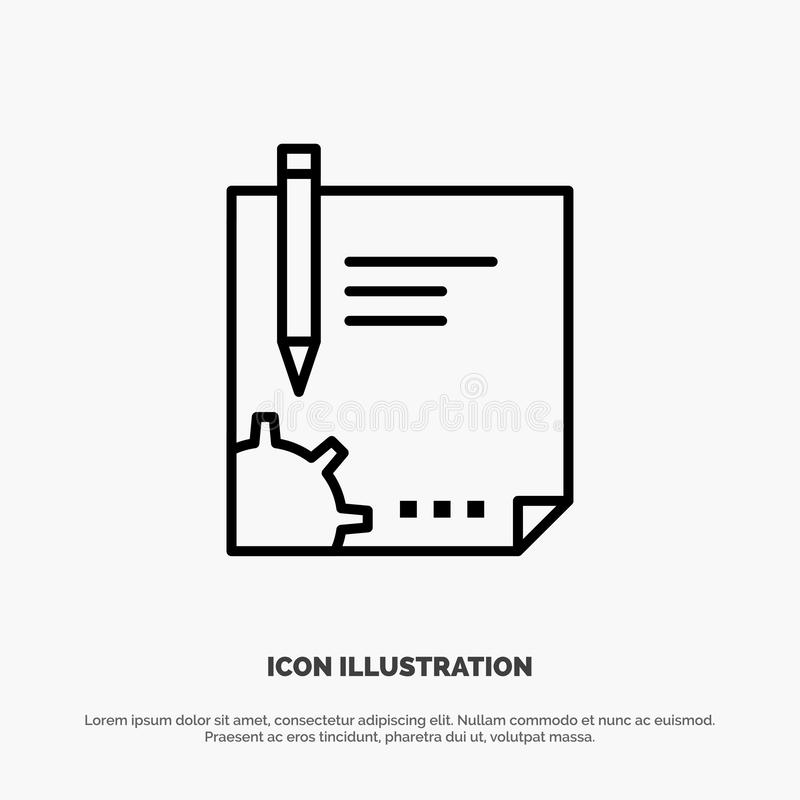 Contract, Document, File, Page, Paper, Sign, Signing Line Icon Vector stock illustration