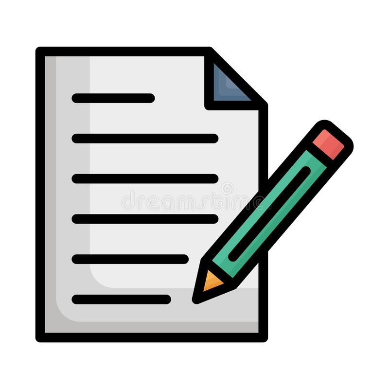 Free Contract, Document Vector Icon Which Can Easily Modify Stock Photography - 204769162