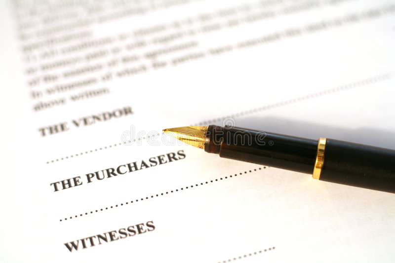 Contract en pen royalty-vrije stock fotografie