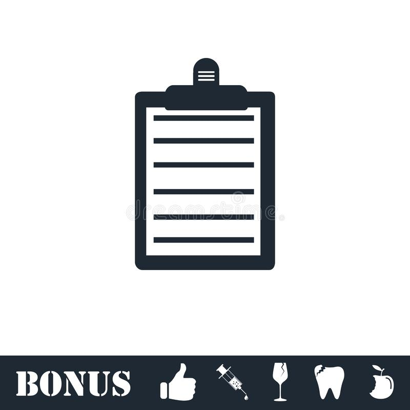 Contract icon flat vector illustration