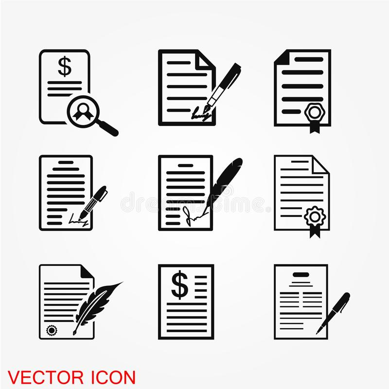 Contract icon vector vector illustration