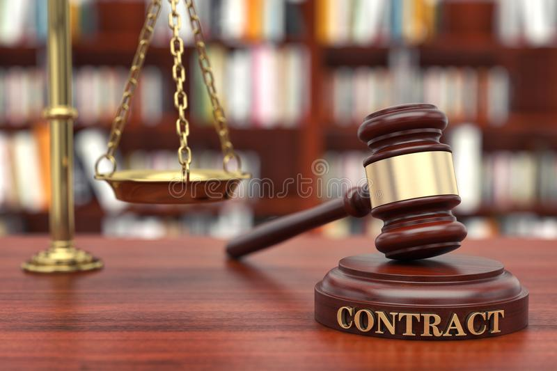 Contract Law stock photos