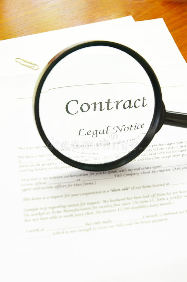 Download Contract Look Stock Photo - Image: 16453820