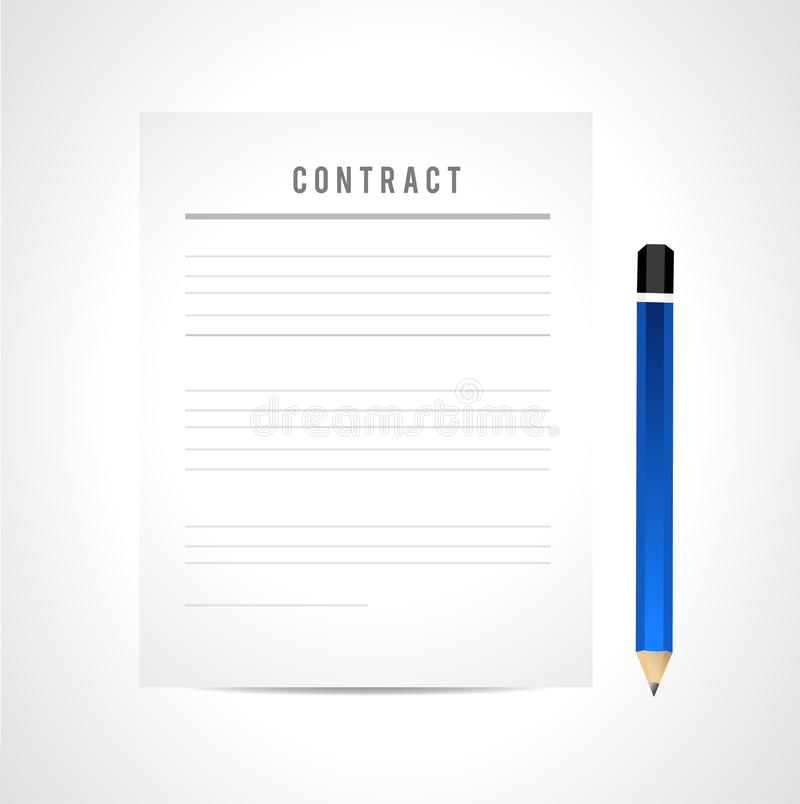 Contract paperwork. Isolated over a white background, illustration, icon, contraction, ball, business, gold, success, black, classic, office, text, working stock illustration
