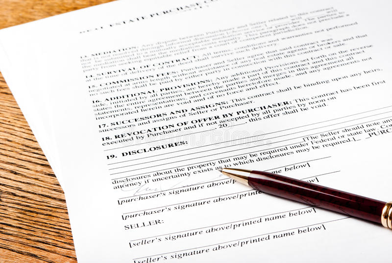 Contract With Pen Royalty Free Stock Photography