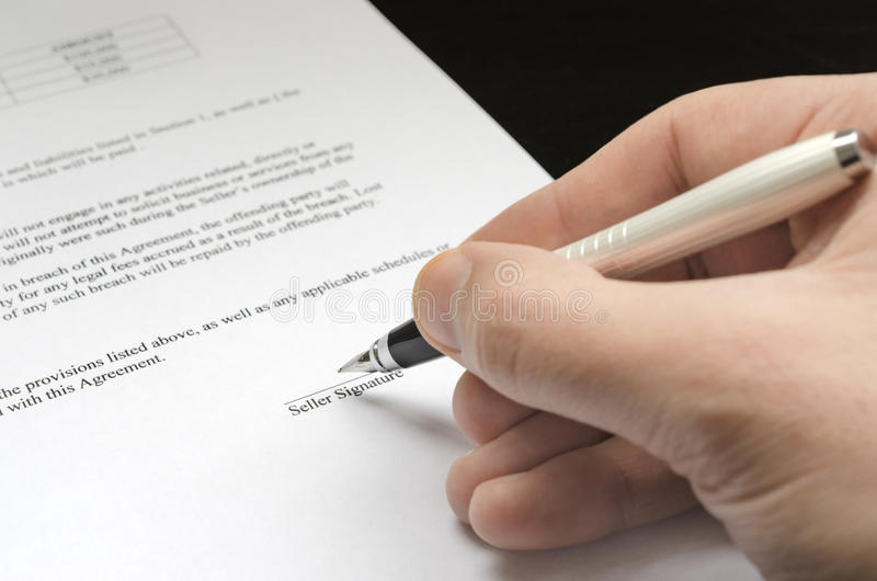 Contract ready to sign stock images