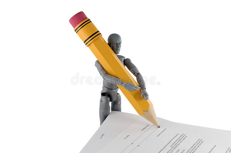 Contract Signing (Big Deal) stock image