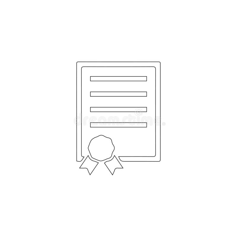 Contract. flat vector icon vector illustration