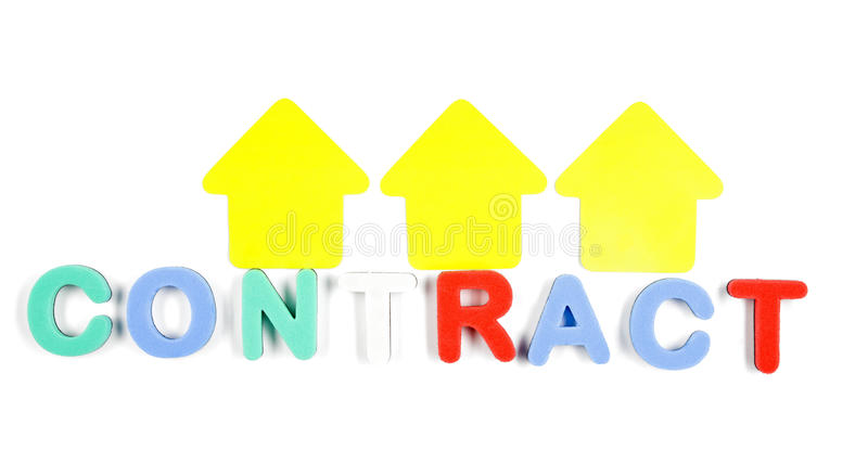 Contract Word Royalty Free Stock Image